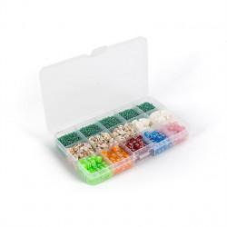 Коробка пластик с перегородками 15ячеек 17,7х10,2х2,3см, GAMMA