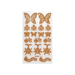 Бабочки, декоративные наклейки из пробки 12х21см, Mr. Painter