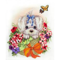 Чарлик.ЖК, набор для вышивания мулине и лентами, 23х27см, 28+8цветов Panna