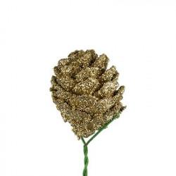 Шишки на веточке, декоративный элемент для флористики 3х2,5см, 3шт. Blumentag