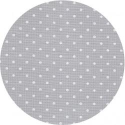 Канва Belfast Petit Point 32 ct. 35*50см±2см цвет №7349 серый в белый горох, 95%лен, 5%мет.полиэстер