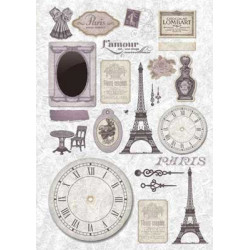 Париж, бумага рисовая для декупажа, 32х45 см. Love2Art