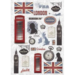 Лондон, бумага рисовая для декупажа, 32х45 см. Love2Art