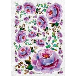 Дикая роза, бумага рисовая для декупажа, 32х45 см. Love2Art