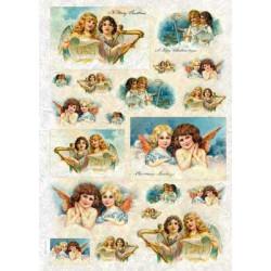 Ангелочки 2, бумага рисовая для декупажа, 32х45 см. Love2Art