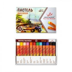 Пастель масляная 12 цветов VISTA-ARTISTA