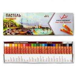Пастель масляная 24 цвета VISTA-ARTISTA