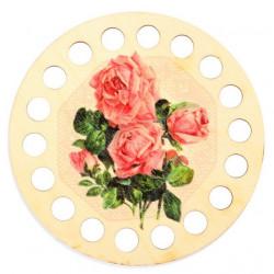 Органайзер для ниток круглый с рисунком, 18 отверстий