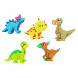 Динозавры малыши 5шт, набор пуговиц. Dress It Up