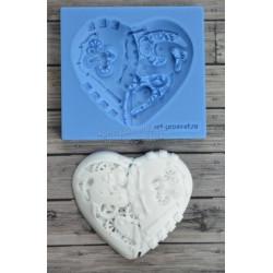 Механическое сердце 6х6см, молд силиконовый универсальный АП