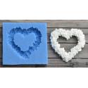 Сердце из цветов 5х5см, молд силиконовый универсальный АП