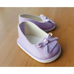 Туфли лаковые фиолетовые, длина стопы 7см. Кукольная обувь