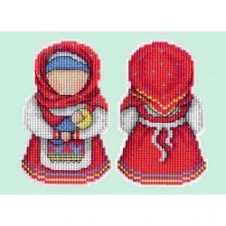 Оберег. Материнство, набор для вышивания крестиком на пластиковой канве 11х8см, 14цветов Жар-птица