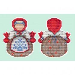Оберег. Кубышка, набор для вышивания крестиком на пластиковой канве 11х9см, 15цветов Жар-птица