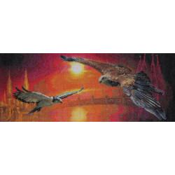 Два неба, набор для вышивания крестиком, 35621см, 44 цвета Panna