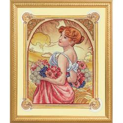 Соблазн, набор для вышивания крестиком, 33х40см, 41цвет Panna