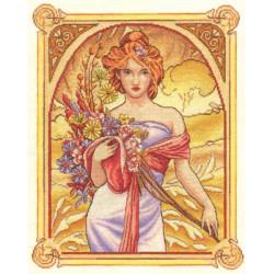 Искушение, набор для вышивания крестиком, 33х40см, 40цветов Panna