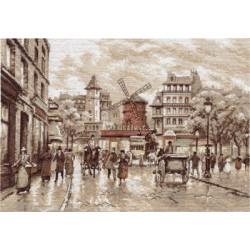 Париж.Мулен Руж, набор для вышивания крестиком, 38х27см, 16цветов Panna