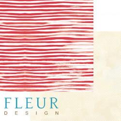 Тельняшка, коллекция Морская прогулка, бумага для скрапбукинга 30x30см, 190г/м Fleur Design
