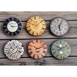 Часы 4, набор скрап-фишек для скрапбукинга 6шт. 2,5см АП