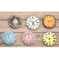 Часы 2, набор скрап-фишек для скрапбукинга 6шт. 2,5см АП