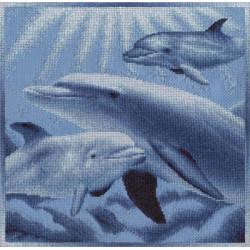 Морские глубины, набор для вышивания крестиком, 27х28см, 9цветов Panna