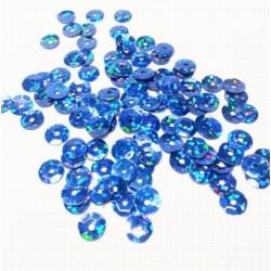 Синий, пайетки россыпью 6 мм 10г, Zlatka
