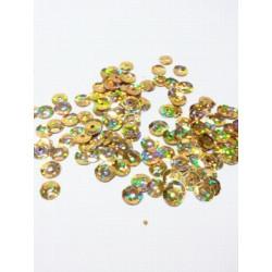 Золото, пайетки россыпью 6 мм 10г, Zlatka