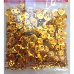 Жёлтый, пайетки россыпью 6 мм 10г, Zlatka
