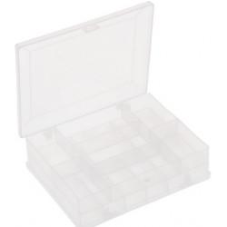 Органайзер для мелкой фурнитуры, 16 оделений, пластик, 9,5х12х3,5 см