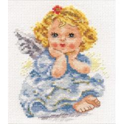 Ангелок мечты, набор для вышивания крестиком, 11х14см, 19цветов Алиса