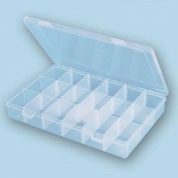 Коробка пластик со съемными перегородками 27.2х18х4,1см, GAMMA