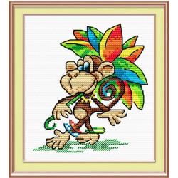 На карнавал, набор для вышивания 15х10см 13цветов Жар- птица