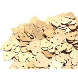 Золото, пайетки-сердце россыпью 13 мм 10г, Zlatka