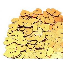 Желтый, пайетки-сердце россыпью 13 мм 10г, Zlatka