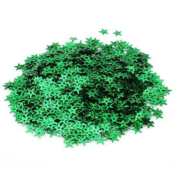 Зеленый, пайетки-звездочка россыпью 13 мм 10г, Zlatka