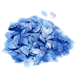 Синий, пайетки в форме листика с жемчужным эффектом 16*9 мм 10г, Zlatka