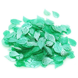 Зеленый, пайетки в форме листика с жемчужным эффектом 16*9 мм 10г, Zlatka