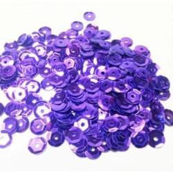 Фиолетовый, пайетки россыпью 6 мм 10г, Zlatka