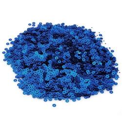 Синий, пайетки круглой формы с матовым эффектом 3 мм 10г, Zlatka