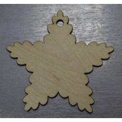 Рождественская звезда, заготовка для декорирования d10см, фанера 3мм. NK
