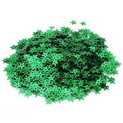 """Зеленый, в форме звезды с эффектом """"голографик"""" 7*7 мм 10г, Zlatka"""