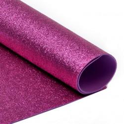 Ярко розовый, фоамиран глиттерный 2мм 20*30 см
