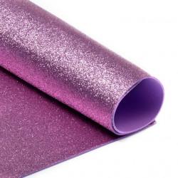 Светло-розовый, фоамиран глиттерный 2мм 20*30 см