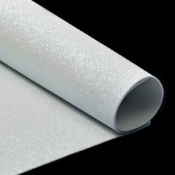 Белый, фоамиран глиттерный 2мм 20*30 см
