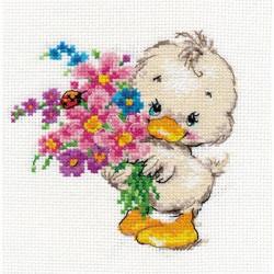 Желаю счастья, набор для вышивания крестиком, 12х12см, 21цвет Алиса