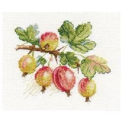 Крыжовник, набор для вышивания крестиком, 11х9см, 17цветов Алиса