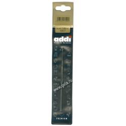 Крючок вязальный, экстратонкий, сталь, №1, 13 см, Addi