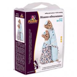 Мишки обнимашки, высота 28см набор для шитья. Miadolla