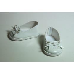 Туфли лаковые белые, длина стопы 7см. Кукольная обувь